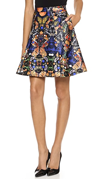 alice + olivia Nyla Center Pleat Skirt