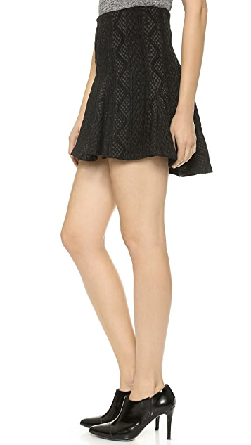 alice + olivia Sibel Fit and Flare Skirt