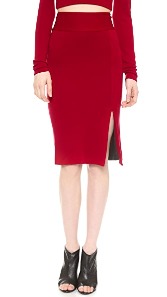 alice + olivia Tani Slit Pencil Skirt