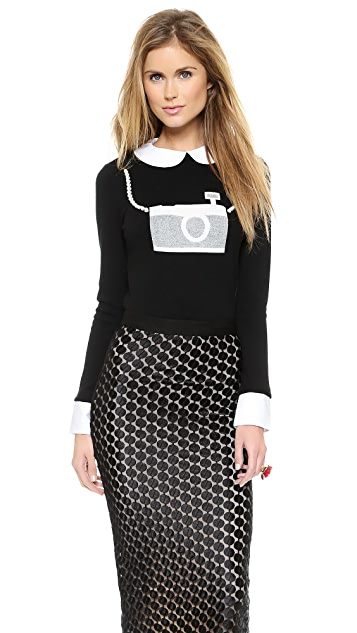 alice + olivia Camera Sweater