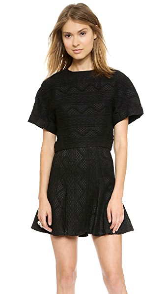 alice + olivia Ida Structured Crop Top