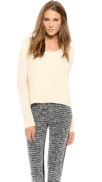 alice + olivia Boxy Open Weave Sweater