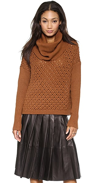 alice + olivia Chunky Drop Shoulder Turtleneck