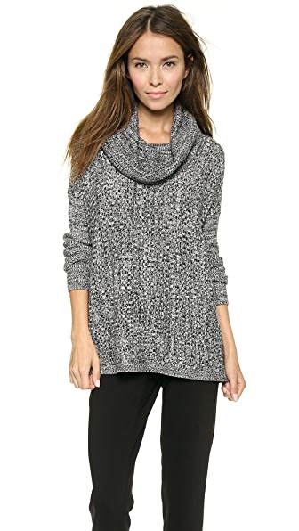 alice + olivia Ribbed Cowl Neck Sweater