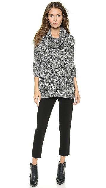 alice + olivia Ribbed Cowl Neck Sweater