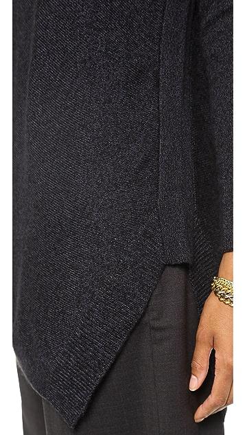 alice + olivia Solid Bias Boxy Pullover