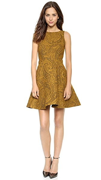 alice + olivia Delery V Back Dress
