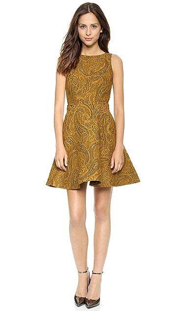 alice + olivia Delery V Back Dress