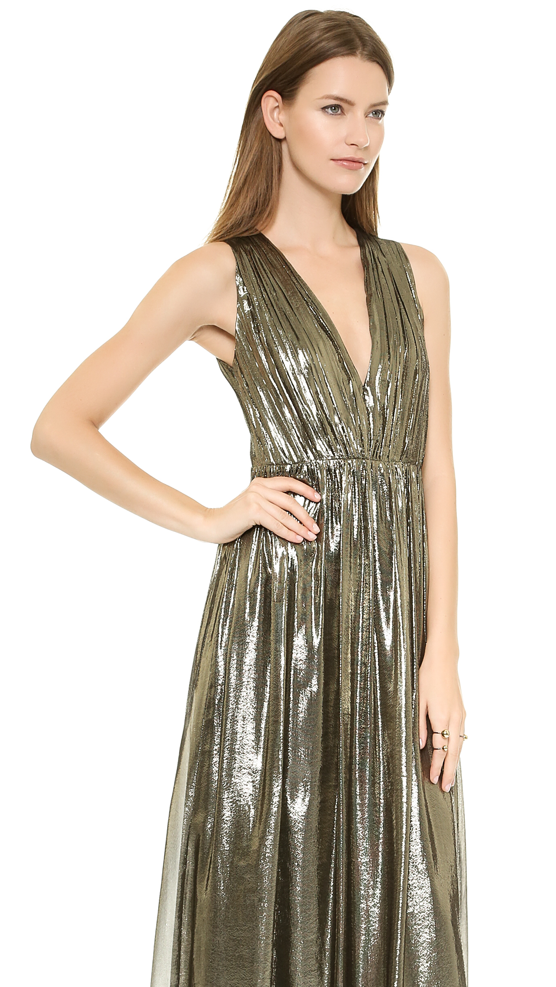 alice + olivia Issa Pleated Gown | SHOPBOP