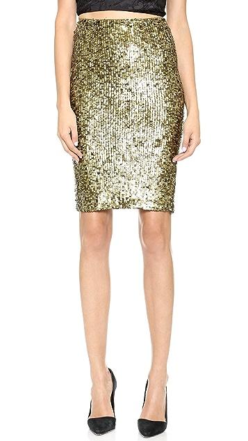 alice + olivia Bryce Sequin Pencil Skirt