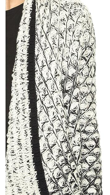 alice + olivia Ombre Novelty Stitch Long Cardigan