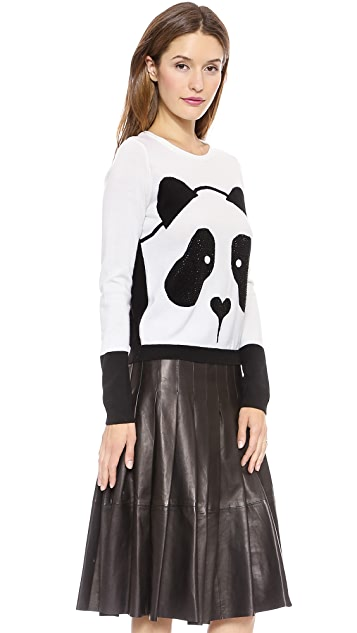 alice + olivia Rhinestone Panda Sweater