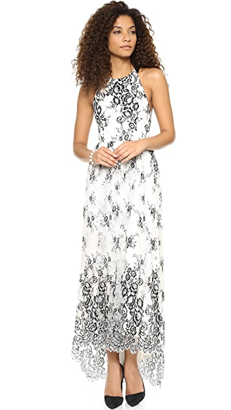 alice + olivia Isla T Back Long Dress