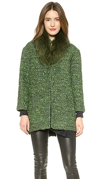 alice + olivia Fur Collar Coat