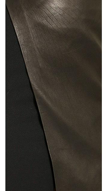 alice + olivia Venty Cross Over Pencil Skirt