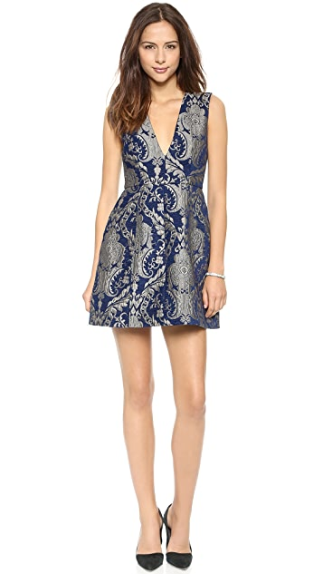 alice + olivia Pacey Low V Dress