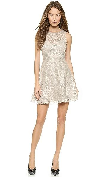 alice + olivia Natalia Open Back Lace Dress