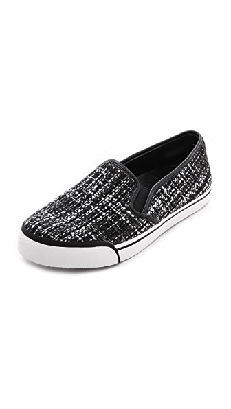 alice + olivia Piper Tweed Slip On Sneakers