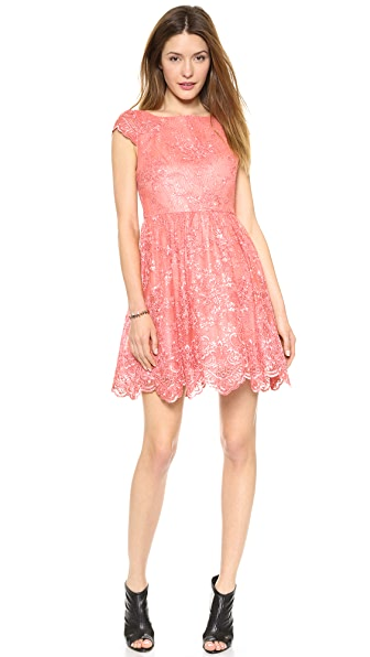 alice + olivia Zenden Lace Dress