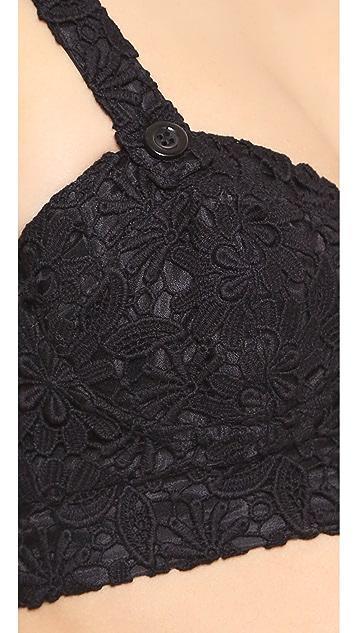 alice + olivia Azieb Crochet Bra Top
