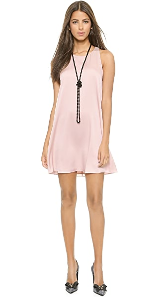 alice + olivia Liz Back Twist Dress