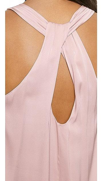 alice + olivia Liz Back Twist Dress