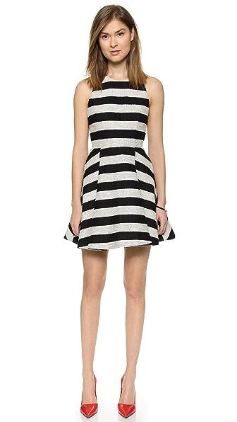alice + olivia Chase Box Pleat Dress