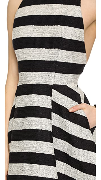 alice + olivia Chase Box Pleat Dress