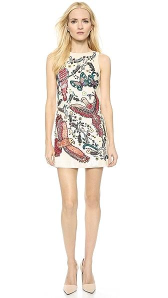 alice + olivia Elliotte Embellished Shift Dress