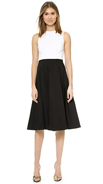 alice + olivia Box Pleat Midi Dress