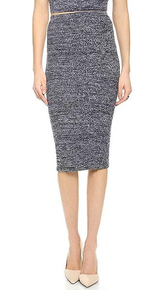 alice + olivia Herringbone Pencil Skirt