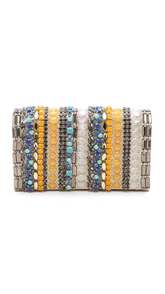 alice + olivia Stripe Be Beaded Clutch