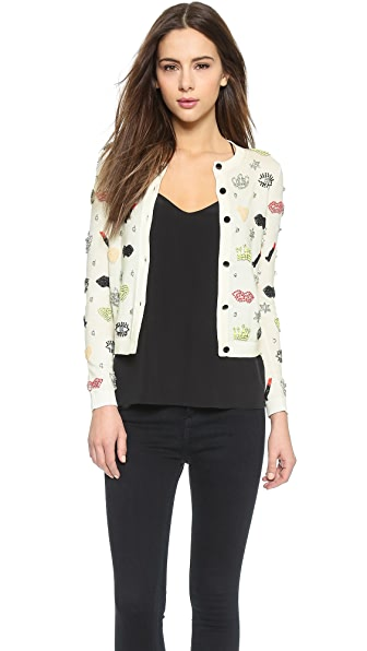 alice + olivia Must Have Embellished Cardigan