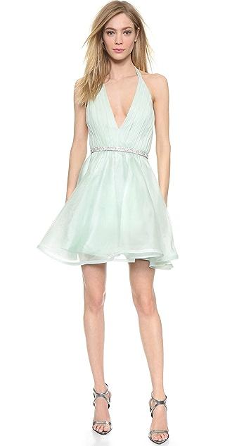 alice + olivia Brookie Halter Dress
