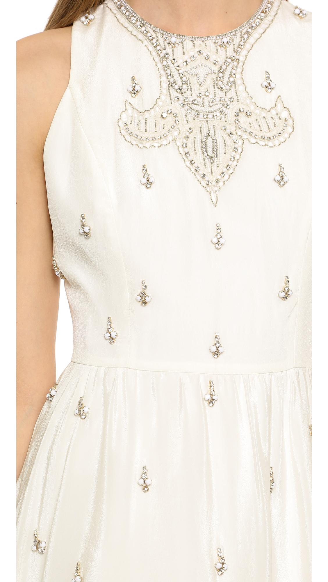 57cb2a3e22d alice + olivia Gilda Embellished Lace Back Dress