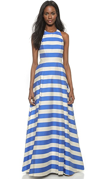 alice + olivia Marsha Striped Gown