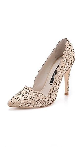 alice + olivia Dina Rose Laser Pumps