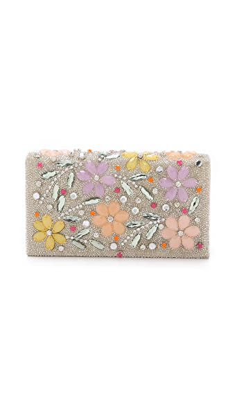 alice + olivia Floral Daisy Be Beaded Clutch