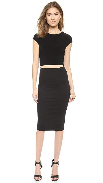 alice + olivia Super High Waist Pencil Skirt