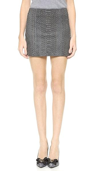 alice + olivia Suede Miniskirt