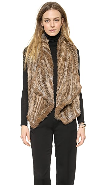 alice + olivia Harriet Fur Vest