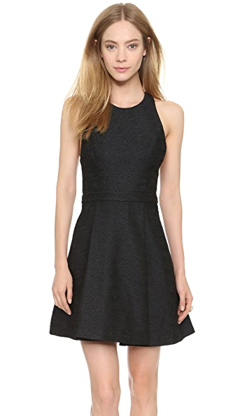 alice + olivia Danie Open Back Dress