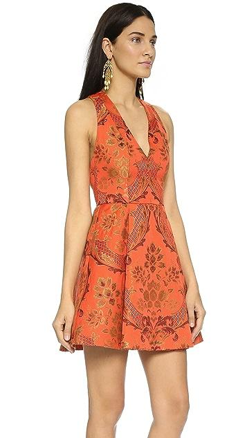 alice + olivia Mollie Deep V Dress