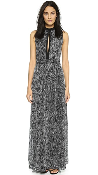 alice + olivia Ramon Keyhole Long Dress