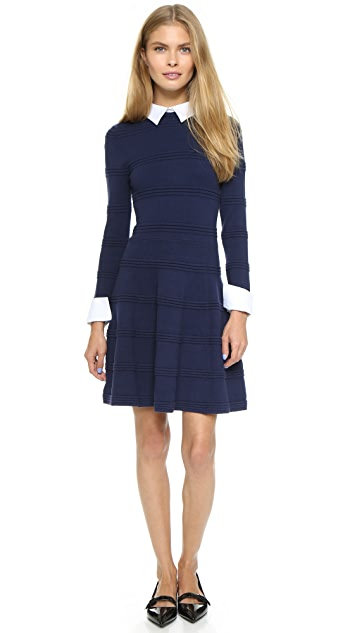 alice + olivia Textured Collared Dress
