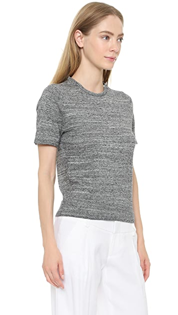 alice + olivia Fitted Sweater with Collar Trim