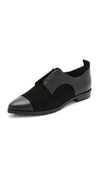 Alice + Olivia Gia Loafers - Black/Black