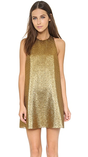 Alice + Olivia Harrison Flared Dress - Gold