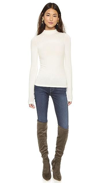 alice + olivia Genova Fitted Sweater
