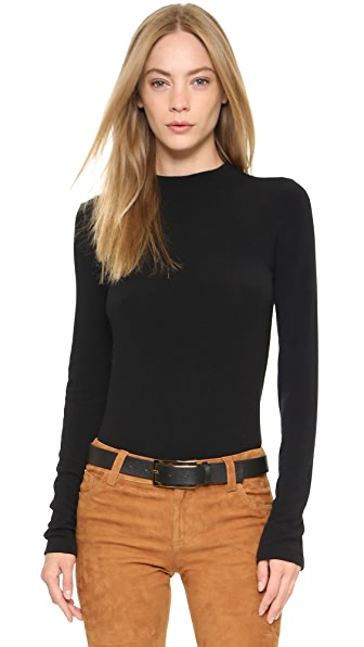 Alice + Olivia Genova Fitted Sweater - Black at Shopbop